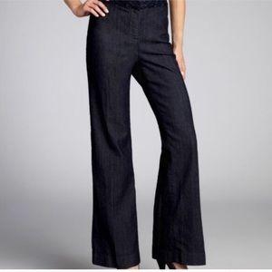 NWOT Ellen Tracy High Rise Wide Leg Dark Jeans